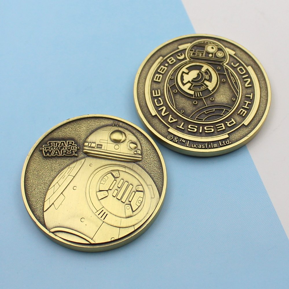 Challenge Coin Star Wars Bb-8 1 3/4 Inch