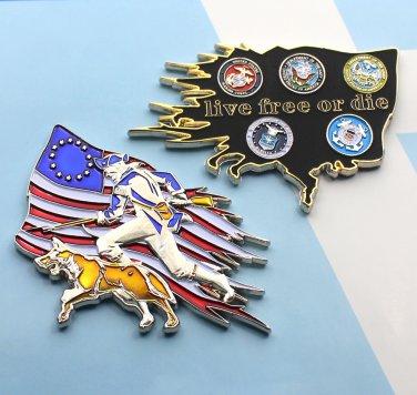Challenge Coin Department Of Defense Minuteman K-9 Dog 3 Inch