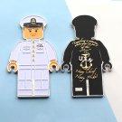 Challenge Coin Navy Chief USN Lego Man White Uniform
