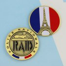 Challenge Coin Police France French Paris Eiffel Tower RAID