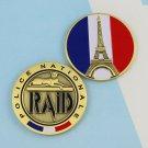 Challenge Coin Police France French Paris Eiffel Tower RAID