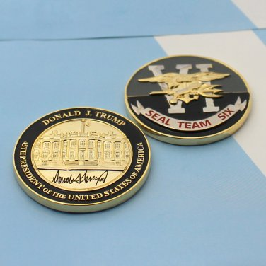 Seal Team Six Challenge Coin 45th President Of USA Donald Trump