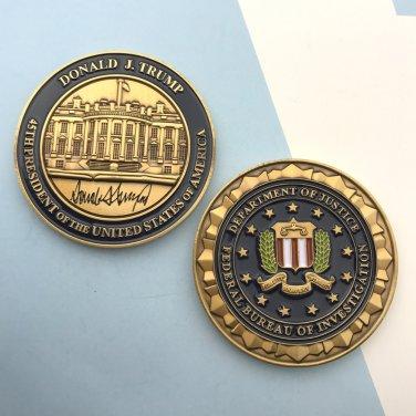 FBI Challenge Coin 45th President Of USA Donald Trump