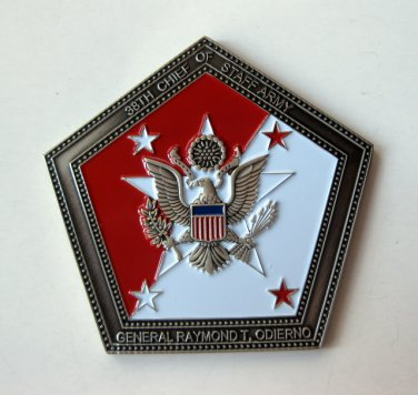 CHALLENGE COIN General Odierno Army Chief of Staff Challenge 5 SIDES