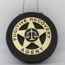 Fugitive Recovery Agent Metal BADGE 2 1/4 inch & Holder