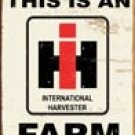 International Harvester Tractor Tin Sign #1279