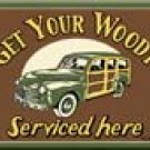 Woody Car Ice Box Magnet #M1192