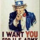 ARMY Uncle Sam Ice Box Magnet #M128