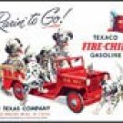 Texaco FireTruck Ice Box Magnet #M594