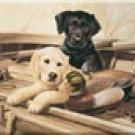 Lab Hunting Dogs Ice Box Magnet #M923