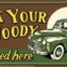 Woody Car License Plate #31192