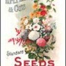 Flower Garden Seeds Tin Sign #417