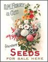 Flower Garden Seeds Tin Sign #417