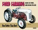 Ford Tractor Tin Sign #758