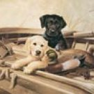 Lab Puppy Duck Hunting Dogs Tin Sign #923