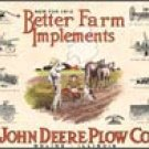 John Deere Tractor Plow Tin Sign #1156