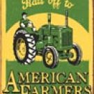 American Farmer Tractor Tin Sign #1173