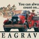 Seagrave Fire Truck Tin Sign #695
