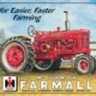 International Harvester Farmall Tractor Tin Sign #825