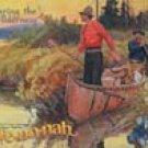Canoe Fishing Tin Sign #998