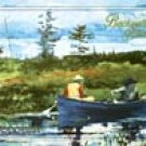 Canoe River Fishing Tin Sign #1384