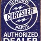 Chrysler Car Parts Tin Sign # 1386