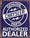 Chrysler Car Parts Tin Sign # 1386