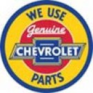 Chevrolet Parts Tin Sign #1072