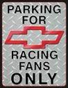 Chevy Racing tin sign #1078