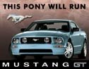 Ford Mustang tin sign #1202
