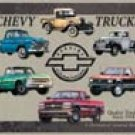 Chevy Trucks tin sign #841