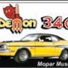 Mopar Demon 340 tin sign #843