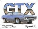 Plymouth GTX tin sign #844
