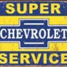 Chevrolet Service tin sign #1355