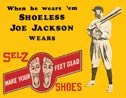 Shoeless Joe Jackson tin sign #55