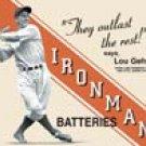 Lou Gehrig tin sign #629