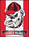 Georgia Bulldogs tin sign #1361