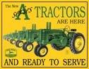 John Deere tractor  tin sign #667