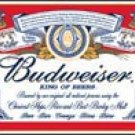 Budweiser Beer tin sign #979
