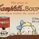 Campbell Soup tin sign #968