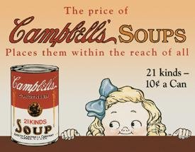 Campbell Soup tin sign #968