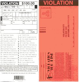 (5) Fake Parking Tickets Novelty Gift