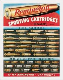 Remington Sporting Cartridges Tin Sign #1001