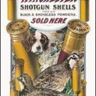 Winchester Dog & Quail Tin Sign #940