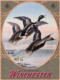 Winchester Three Mallard Ducks Tin Sign #937