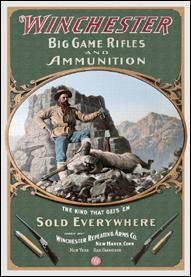 Winchester Hunter With Ram Tin Sign #941