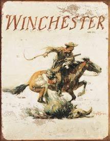 Winchester Logo Tin Sign #1421