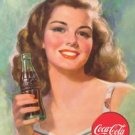 Coke Beautiful Brunette Tin Sign #1227
