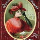 Coke Victorian Red Dress Tin Sign #1054