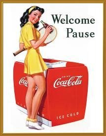 Coke Welcome Pause Tin Sign #1055